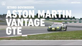 Download Driving the 500bhp Aston Martin Vantage GTE race car Video