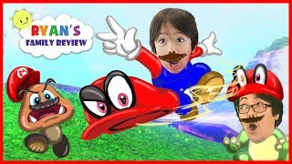 Download Ryan and Daddy play new Mario Odyssey on Nintendo Switch! Let's play Super Mario Adventure! Video