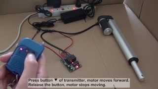 Download How to control linear actuator motor by ordinary 2ch rf remote control kit? Video