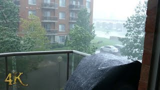 Download Montreal: Strong wind gusts hit condos during intense rainstorm 8-22-2017 Video