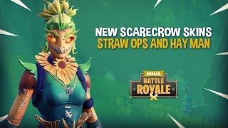 Download NEW Scarecrow Skins!! Straw Ops & Hay Man - Fortnite Battle Royale Gameplay - Ninja Video