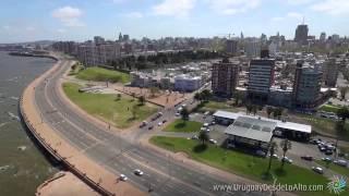 Download Video aéreo de las ramblas del sur-oeste de Montevideo, Uruguay desde lo Alto Video