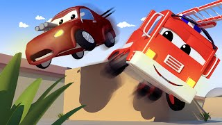 Download Baby Jerry's STUNT goes WRONG! with the Baby Cars in Car City ! - Cartoon for kids Video