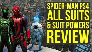 Download Spider Man PS4 All Suits and Abilities In The Game REVIEW (Spiderman PS4 Suits) Video