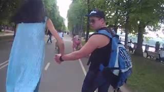 Download Аттракцион для велосипедиста,-велодорожка в Парке Горького Video