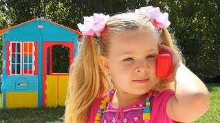 Download Roma and Diana Plays with favorite toys Video