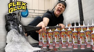 Download TESTING THE STRONGEST GLUE IN THE WORLD!! (WHAT HAPPENS WHEN YOU MIX FLEX GLUE AND FLEX TAPE) Video
