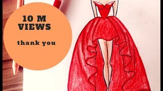 Download How to draw a wonderful dress Video