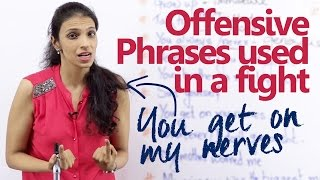 Download Offensive English phrases used in a fight – English lesson for beginners and advanced learners. Video