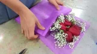 Download Making Flower Bouquet | Small posy of 5 red roses handbouquet Singapore Florist Video