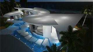 Download Modern Caribbean Villa Right on the Beach Video