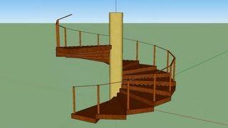 Download Escada Espiral SketchUp 8 Video