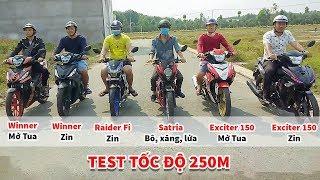Download Exciter150, Winner, Satria, Raider Fi xe nào bá nhất ở cự li 250m ? Video