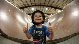 Download ADIML 47: 4 YEAR OLD HALFPIPE JUMP! Video