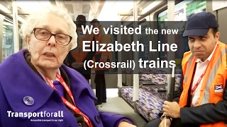 Download TfA members visit the new Elizabeth Line (Crossrail) trains Video