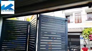 Download Cửa cổng mở ba cánh xếp tự động Video