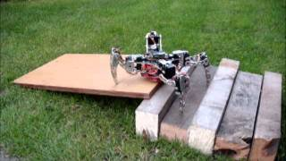 Download X-walker quadruped robot, walking on obstacles part 2 Video