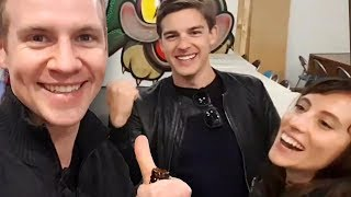 Download Welcoming USA YouTubers to AUS for VidCon!! - MatPat + Steph, Hank Green, Ian (Smosh) and more! Video