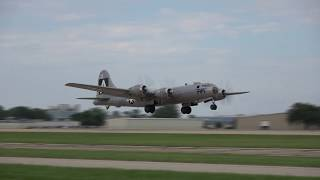 Download First Time Both B-29s Are Airborne - Oshkosh 25 July 2017 Video
