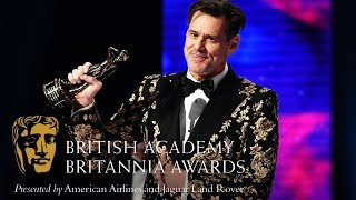 Download Jim Carrey acceptance speech at the Britannia Awards Video
