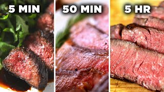 Download 5-Minute Vs. 50-Minute Vs. 5-Hour Steak • Tasty Video