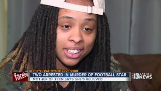Download Mother of slain football player seeks to forgive 2 arrested in his death Video
