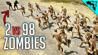Download DEADLY DUO VS 98 ZOMBIES - Insane PlayerUnknown's Battlegrounds (PUBG) Video