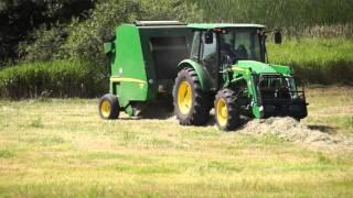 Download John Deere 459 Round Baler Making Hay Video