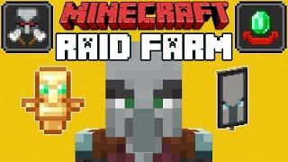 Download Minecraft 1.14 Pillager Outpost & Village Raid Farm Video