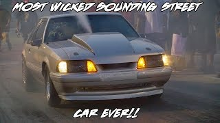 Download WICKED SOUNDING FULL EXHAUST MUSTANG! MEAN NITROUS STREET CAR ALL THE WAY FROM MARYLAND TO GRUDGE! Video