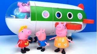 Download EL AVION DE VACACIONES DE PEPPA PIG HOLIDAY PLANE VIAJE A LA PLAYA CON PAPPA PIG MAMA PIG Y GEORGE Video