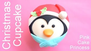 Download Christmas Cupcakes - How to Make a Penguin Cupcake by Pink Cake Princess Video