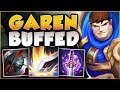 Download WTF?? RIOT 100% GAVE TOO MUCH DMG TO GAREN Q! BUFFED GAREN SEASON 8 TOP GAMEPLAY! League of Legends Video