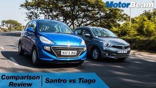 Download Hyundai Santro vs Tata Tiago - Best Small Car?   MotorBeam Video