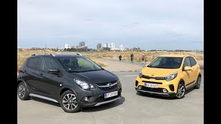 Download DUEL Kia Picanto X Line vs Opel Karl Rocks (DK) Video