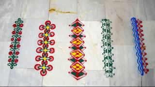 Download Latest Border Rangoli Design | Simple Rangoli Design | Finger Rangoli Design | NIDHI JAIN Video