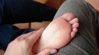 Download Sleeping girlfriend sock removal Video