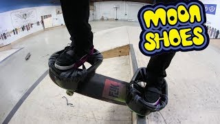 Download CAN YOU SKATE WEARING MOON SHOES?! *DEADLY* Video