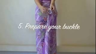 Download How to wear Peranakan Nyonya Sarong on Rayon/Silk Material Video