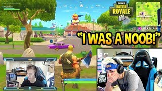 Download NINJA REACTS TO HIS *FIRST* EVER GAME OF FORTNITE! NOOB? Fortnite SAVAGE & FUNNY Moments Video
