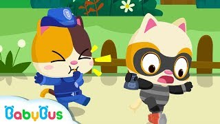 Download Go! Baby Kitten Policeman | ″No No″ Play Safe Song | Nursery Rhymes | Kids Songs| Education |BabyBus Video