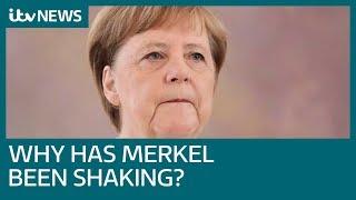 Download Angela Merkel seen shaking again at event in Berlin | ITV News Video