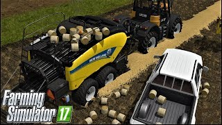 Download Farming Simulator 17| VERY VERY VERY SMALL ROUND BALING IN GOLDCREST VALLEY Video