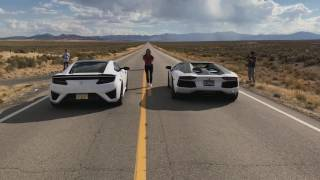 Download Acura NSX VS Lamborghini Aventador Pirelli Edition Video