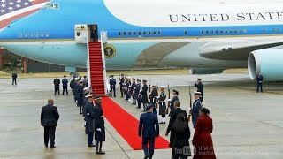 Download 【さよならオバマ】大統領専用機でワシントンを離れるオバマ前大統領 2017/1/20 Video