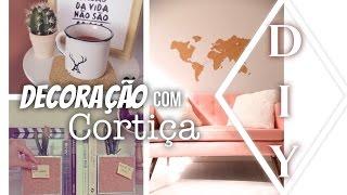 Download DIY : DECORAÇÃO COM CORTIÇA mural, apoiador de livro de caneca por dicadaka Video