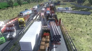 Download Euro truck simulator multiplayer - road rage, bad drivers Video