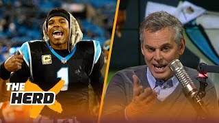 Download Colin questions Cam Newton's mobility, Compares him to Ben Roethlisberger | THE HERD Video