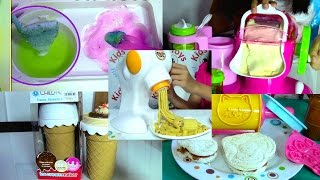 Download Ice Cream Maker, Sandwich, Pasta Maker and Popin Cookin Compilation - Kids' Toys Video