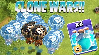 Download Clash Of Clans - NEW CLONE SPELL!! CLONE WARS!! (Testing on lots of troops) Video